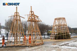 Рекордно большое чучело Масленицы в Волгограде соберут как конструктор