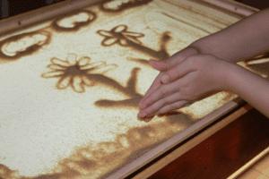 рисунок песком