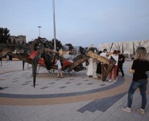 В Волгограде появился арт-объект в виде металлического паука