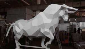 В пойме Царицы в Волгограде установят 3-метрового металлического быка