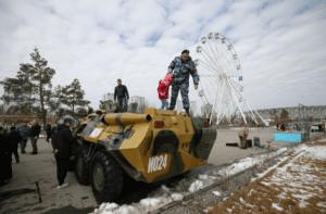 В центре Волгограда прошла выставка спецтехники и снаряжения