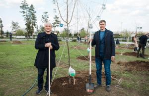 При поддержке Сбербанка в Волгограде Центральный парк стал еще «зеленее»